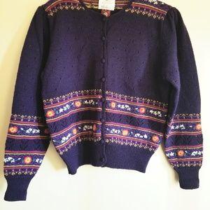 Vintage Susan Bristol Worsted Wool Boho Cardigan